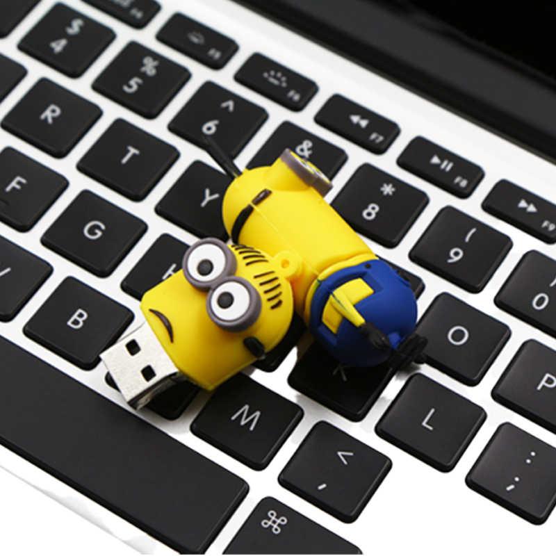 Minions Pen Drive Usb Flash Drive 8 Gb 16 Gb 32 Gb 64 Gb 128 Gb Cle Usb 2.0 Grote capaciteit Memory Stick 4 Gb Pendrive Usb Stick 32 Gb