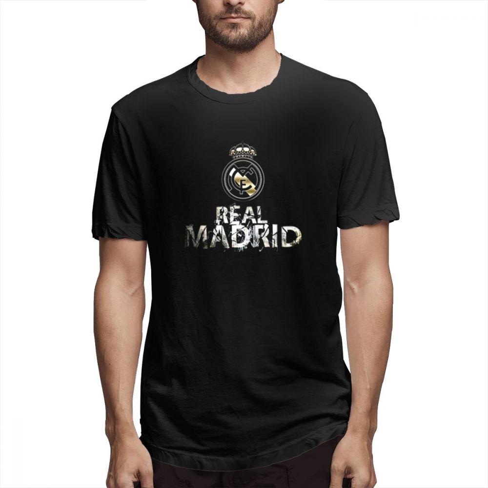 Real Madrid Drawing T Shirt Men Casual Fashion Men's Short Sleeve T-shirt Boy Girl Hip Hop T-shirt Top Tees