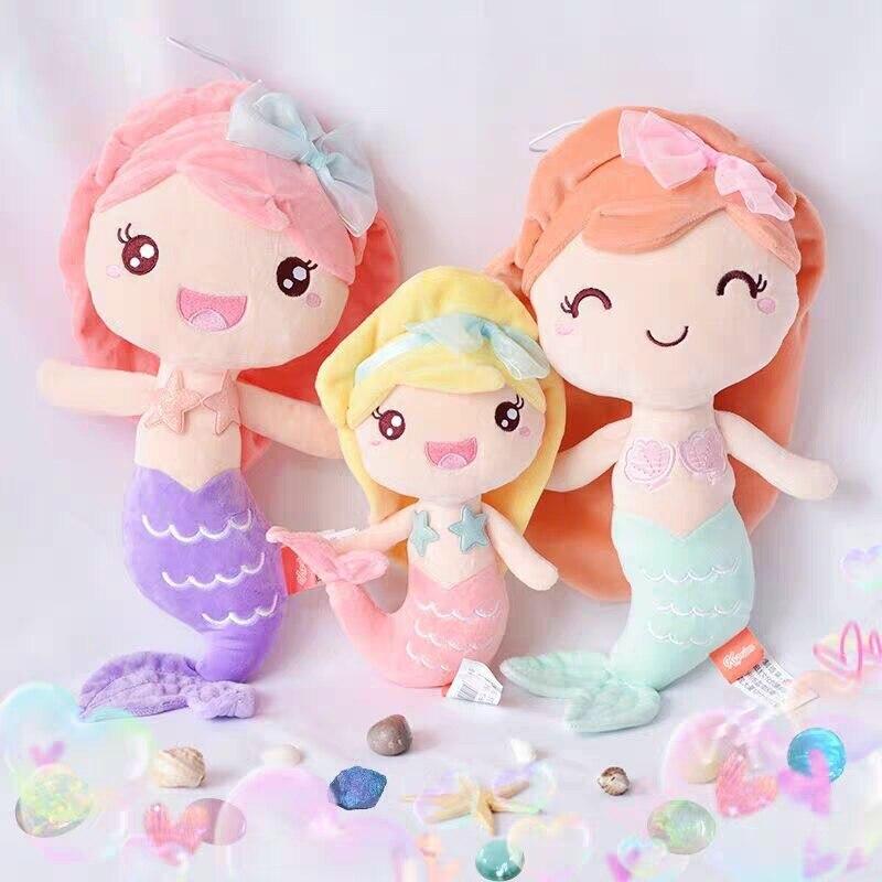 Boneca de pelúcia estilo princesa, boneca de pelúcia, sereia, melhor presente para crianças, meninas, decoração de casa, presente de aniversário para crianças