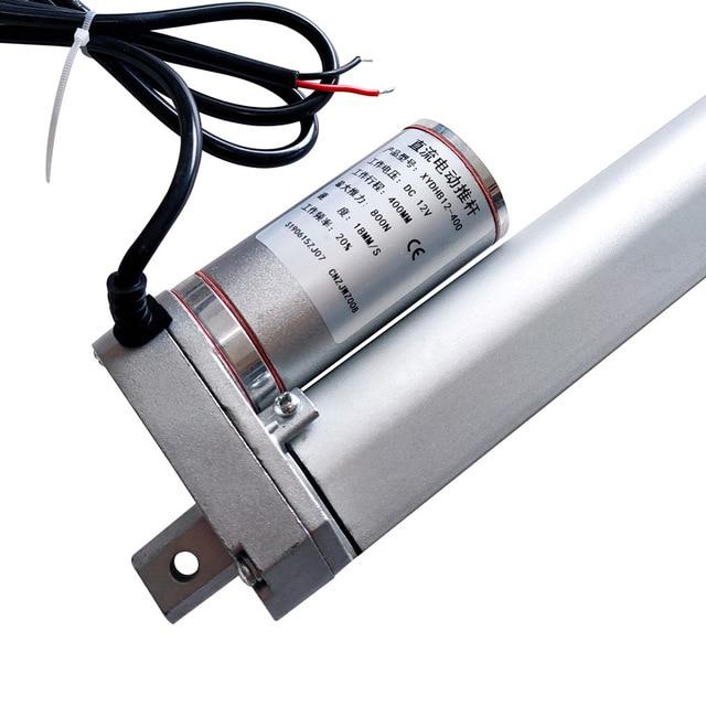 Электрический линейный привод, 12 В/24 В, двигатель постоянного тока, 400 мм, тактный линейный контроллер движения 100/200/300/500/750/800/900/1100/1300/1500N