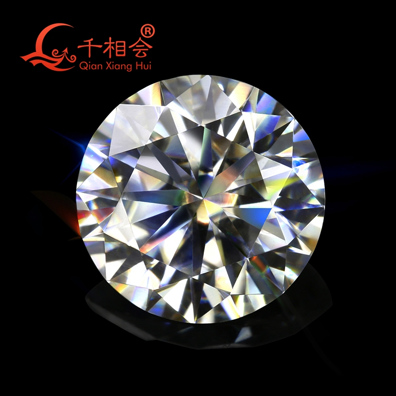 5mm to 12mm GH color white Round Brilliant cut moissanites loose stone by qianxianghui with certificates