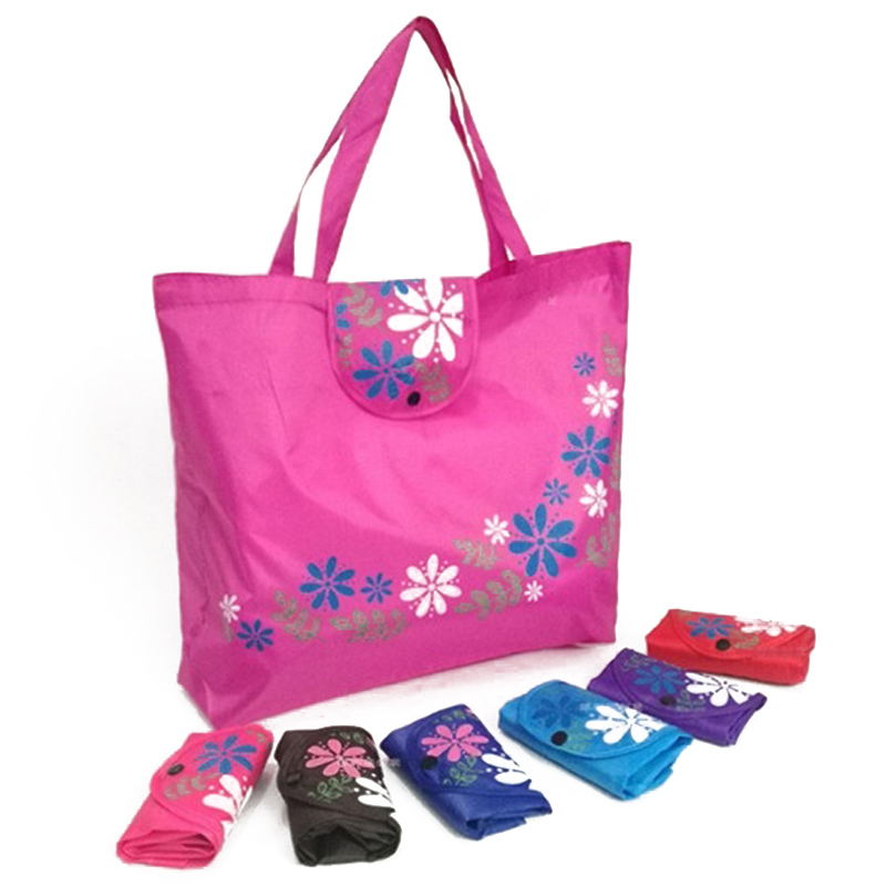 High Quality Reusable Bag Large Capacity Casual Floral Eco Bags Oxford Cloth Environmental Tote Bag Women Foldable Shopping Bags