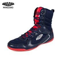 Боксерские туфли для мужчин дышащие боксерские кроссовки удобная