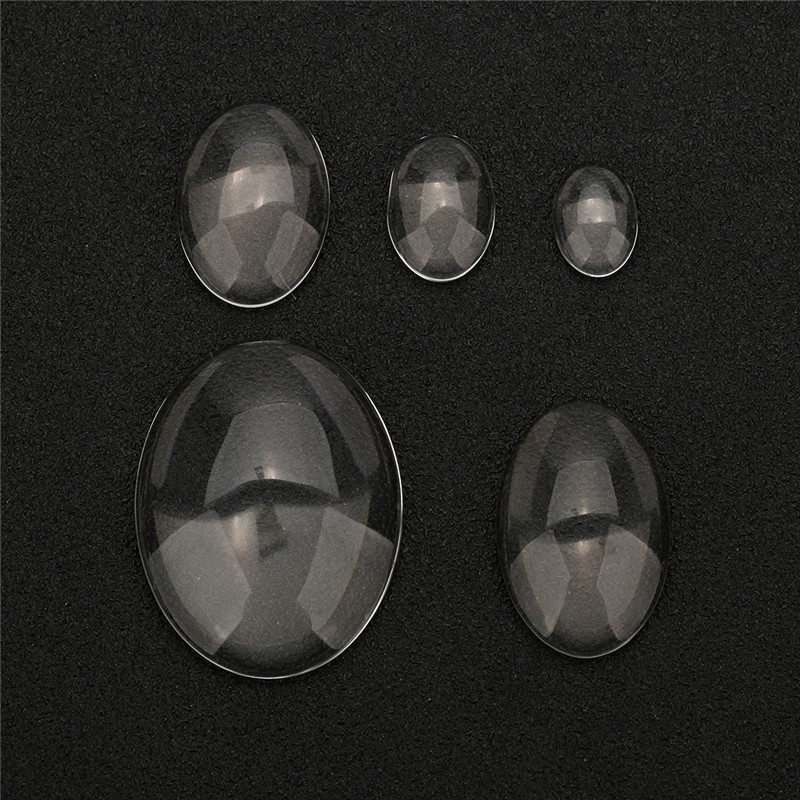 1pack 13x18/18x25/30x40mm Oval Glass Cabochon Cameo Transparent Clear Flat Back Crystal Cabochon For Diy Jewelry Supplies Making