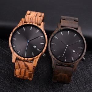 Image 2 - Dodo Herten Hout Horloge Mannen Fashion Datum Display Houten Uurwerken Mannelijke Мужские Часы Quartz Horloges Papier Gift Box Dropship