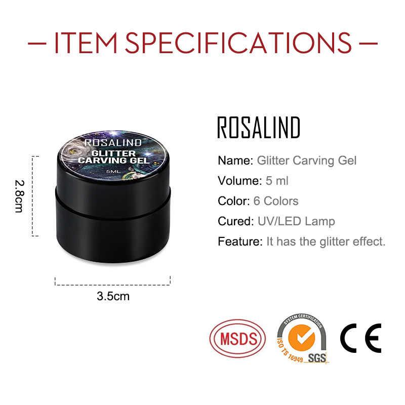 ROSALIND แกะสลักจิตรกรรมเจลเล็บสำหรับเล็บ HYBRID เคลือบกึ่งถาวร UV GEL Manicure BASE Top Coat