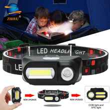 Headlight-Torch Lamp Running-Flashlight ZHIYU Usb-Rechargeable Camping-Head Mini XPE