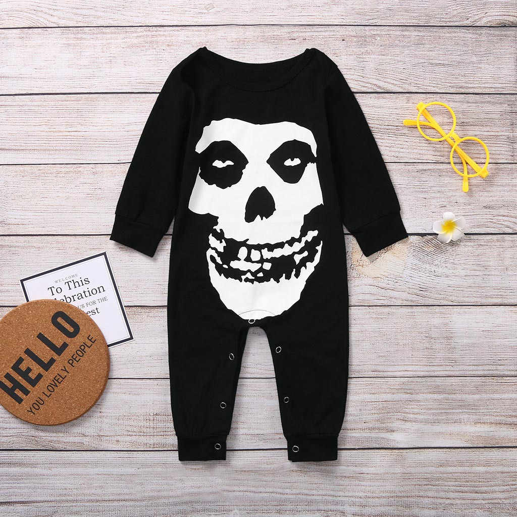 Baby Romper Infant Girl Boy Kids Halloween Printed Romper Jumpsuit Clothes Outfits Baby Halloween Costume Newborn Romper Baby