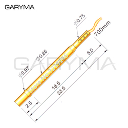 100Pcs in a Pack R02-2W7 Pre-Wired Length 700m Test Probe Pogo Pin Receptacle Length 23.5mm Tool