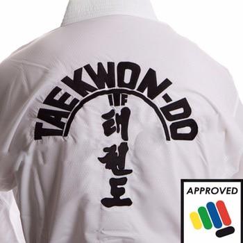 Uniforme de Taekwondo para hombre y mujer, uniforme de algodón blanco aprobado por ITF, equipo de Taekwondo, doboks, 2020