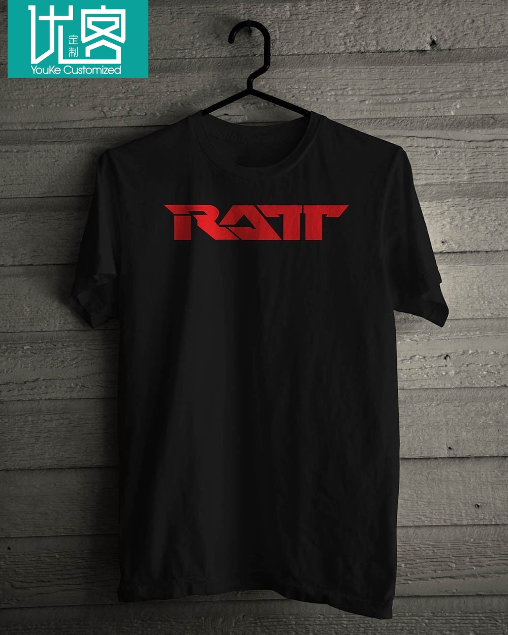 <font><b>Ratt</b></font> Heavy Metal Music Legend Black <font><b>T</b></font>-<font><b>Shirt</b></font> Short Sleeve Discount 100 % Cotton <font><b>T</b></font> <font><b>Shirt</b></font> Free Shipping Summer Fashion image
