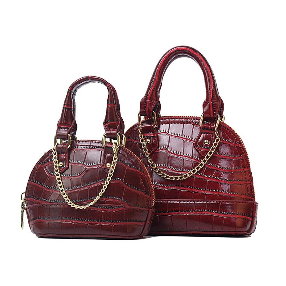 2020 Hot Sales Classic Crocodile Leather Shell Bags Mini Shoulder Handbag Fashion Lady Tote Purse
