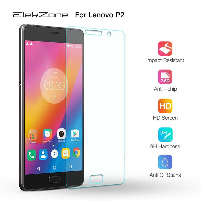 Nano-coated 9H HD Phone Screen Tempered Glass Film On The For Lenovo P2 2.5D HD Screen Protective Glass Film For Lenovo P2