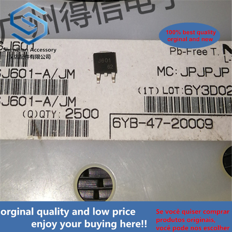 10pcs 100% New And Orginal 2SJ601 J601 36A60V P-channel FET  SOT-252 In Stock