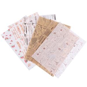 50 шт./лот, Восковая бумага, пищевая жировая бумага, обертка для пищевых продуктов, оберточная бумага для хлеба, сэндвича, бургера, картофеля ф...