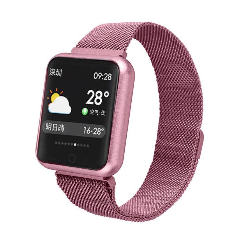 P68 femmes montre intelligente pour Android Xiomi montre IP68 étanche fréquence cardiaque pression artérielle Smartwatch hommes PK B57 P70 Q9 Bracelet