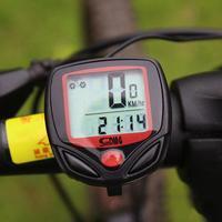 1 pieza LCD Digital bicicleta ciclismo ordenador a prueba de agua odómetro velocímetro ciclismo cronómetro accesorios de montar|Sistemas de navegación para bicicleta| |  -