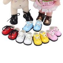 הגעה חדשה 5cm PU נעלי BJD בובת 14 אינץ אופנה מיני בובת נעלי EXO רוסית DIY בעבודת יד בובת אבזרים