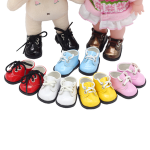 New Arrival 5cm PU Shoes For BJD Doll 14-INCH Fashion Mini Doll Shoes for EXO Russian DIY Handmade Doll Accessories(China)