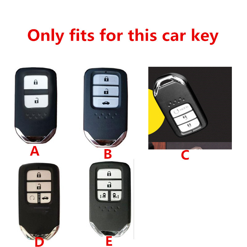 Image 2 - For Honda For Fit For Civic For HR V CRV Odyssey Accord 2013 2017 TPU Black Car Styling Remote Smart Key Cover Fob Case Shell-in Key Case for Car from Automobiles & Motorcycles