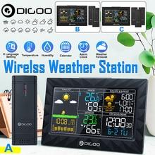 Беспроводной домашний Метеостанция Большой ЖК-дисплей открытый Крытый Цифровой термометр гигрометр Измеритель температуры датчик влажно...