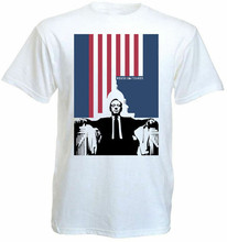 House Of Cards V 3 Movie Poster T Shirt White All Sizes S-3Xl Wholesale Tee Shirt(China)