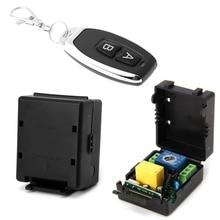 Receptor de interruptor remoto inalámbrico AC 220V 10A 1CH RF 315MHz, módulo + Kit transmisor para casa inteligente