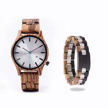DODO reloj de venado para hombre, de cuarzo japonés, de madera de cebra, reloj masculino Simple, calendario, indicador de fecha, envío directo OEM B09