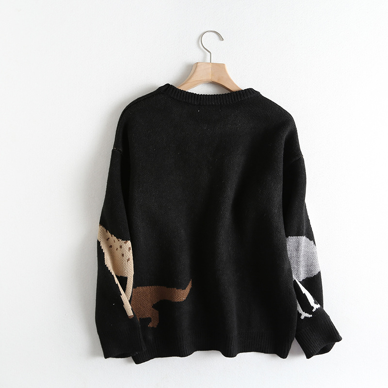 Animal Pattern 2019 Autumn And Winter New Korean Women Sweater All match Long Sleeved Shirt Slim Female Pullover - 2