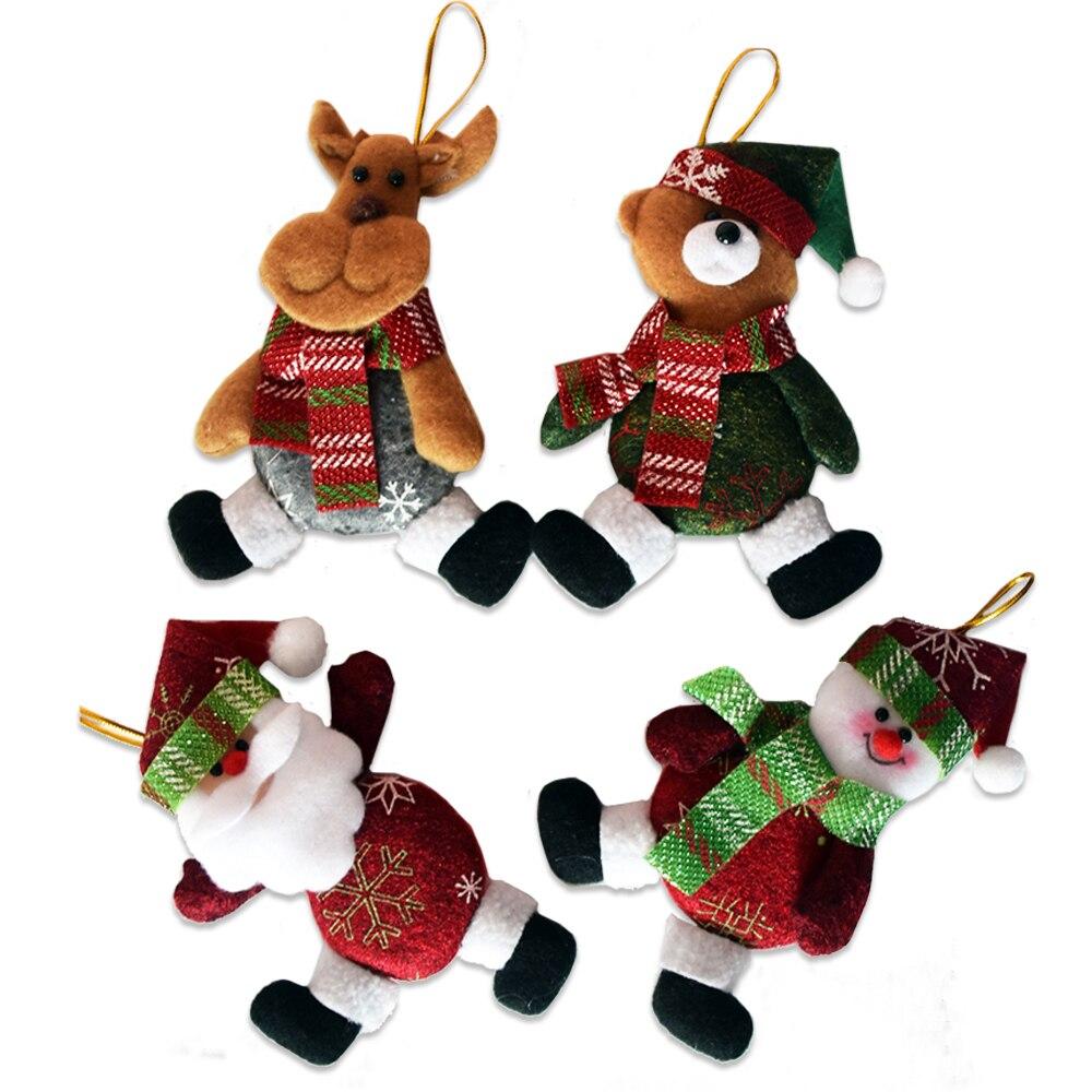 Розничная продажа, 5 шт./лот, длина 11 см, новые рождественские подарки, подвесные украшения на елку, подвески Санта-Клауса, украшения для дома ...