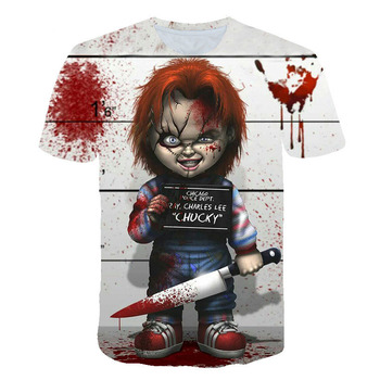 4-14 years boy's t shirt polyester fashion Joker face t-shirt children's clothing child's tee 3D clothes costume for kids tops