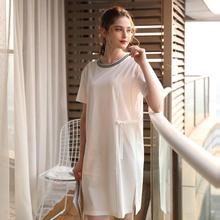 Nightdress Thin Women Long Sleepwear Home Female Sleep Lounge Sexy cotton 100% fashion homewear