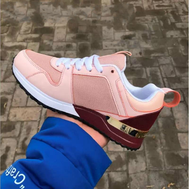 Women's Sneakers 2020 New Leopard Print Leather Thick Bottom Increased Sneakers Casual Comfortable Sports Shoes for Ladies 1