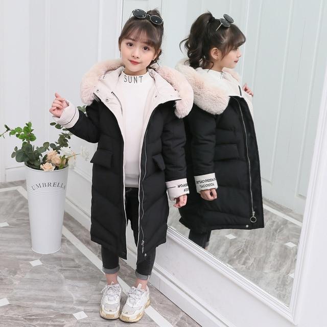 Giacca invernale per la Ragazza Bambini abbigliamento Da Lavoro 2019 Nuovo Addensare Imbottiture Cappotto Del Cotone Outwear 3 13T Adolescente Capretto abbigliamento Girls Parco