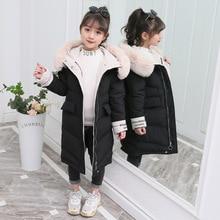 Winter Jas Voor Meisje Kinderen Werkkleding 2019 Nieuwe Thicken Down Katoenen Jas Uitloper 3 13T Tiener Kid kleding Meisjes Park