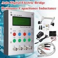 Automático lcr digital ponte elétrica resistência capacitância indutância + esr medidor