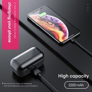 Image 3 - TOPK TWS Bluetooth 5.0 słuchawki Stereo HD z redukcją szumów słuchawki gamingowe zestaw głośnomówiący z słuchawkami w uchu