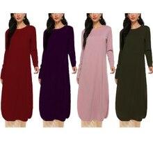Women Muslim Plus Size 2 Piece Outfits Set Long Sleeve Side Split Tunic Tops Wide Leg Pockets Pants Turkey Abaya Ramadan Dress