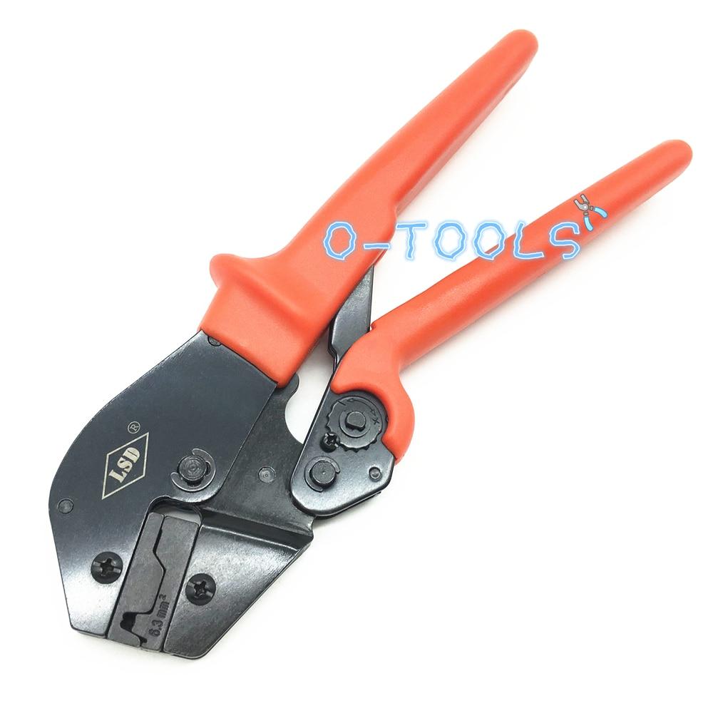 Flag Terminals 6.3mm2 Crimping Tools,crimper Tool Pliers For Non-insulated Plug Flag Connectors 6AWG AP-06FL