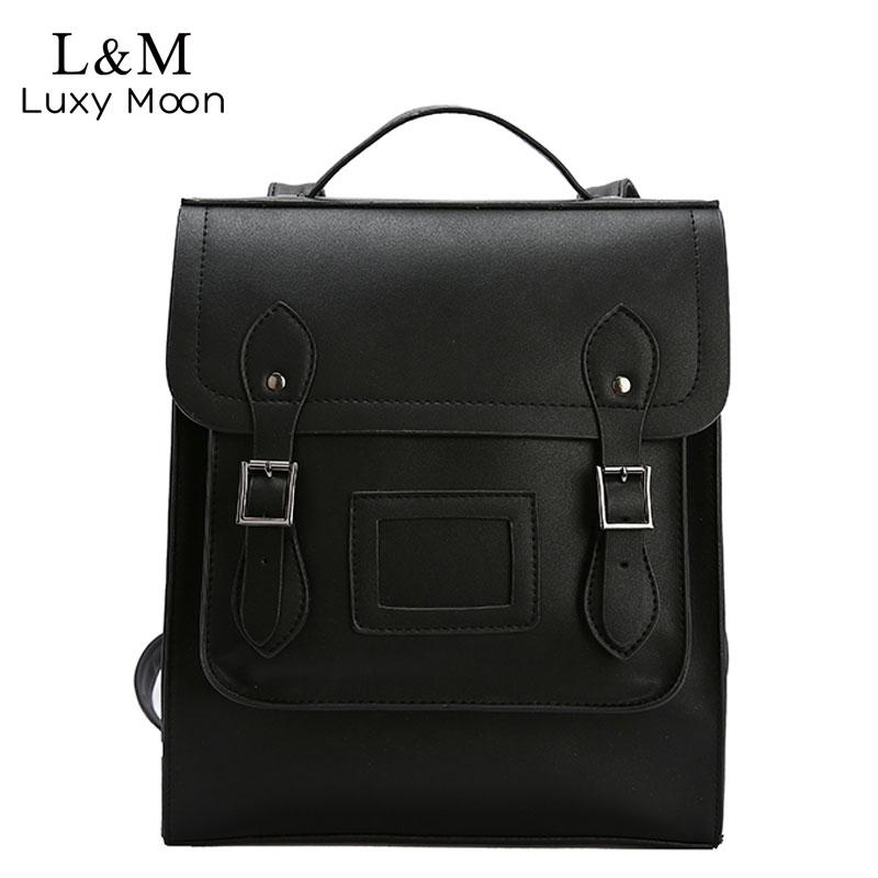 Female Backpacks Women Bag Packs Retro PU Leather Backpack Large Capacity Portable Tote School Shoulder Bag Mochila Mujer XA538H