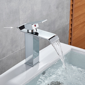 Bathroom Waterfall Basin Sink Faucet Black Faucets Brass Bath Faucet Hot&Cold Water Mixer Vanity Tap Deck Mounted Washbasin tap 22