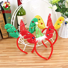 Christmas Headbands Santa Tree Elk Antlers Headband Kids Adult Headwear Reindeer Ornaments Christmas Decorations Party Cosplay(China)
