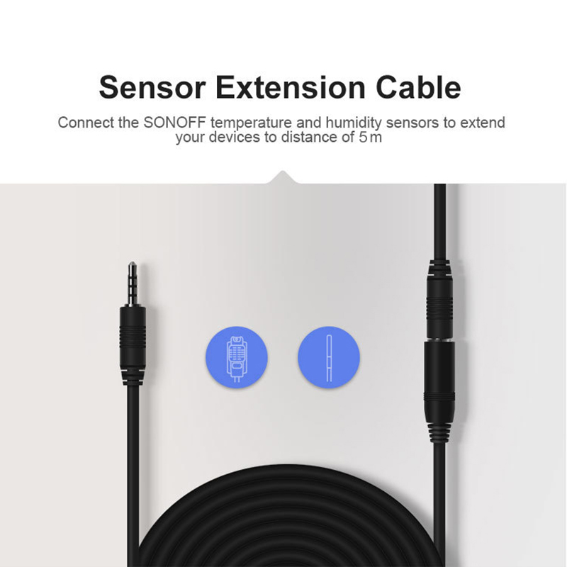 Itead Sonoff <font><b>5M</b></font> Extension Cable AL560 Compatiable with Sonoff AM2301/Si7021/<font><b>DS18B20</b></font> Temperature/Humidity Sensors High Accuracy image