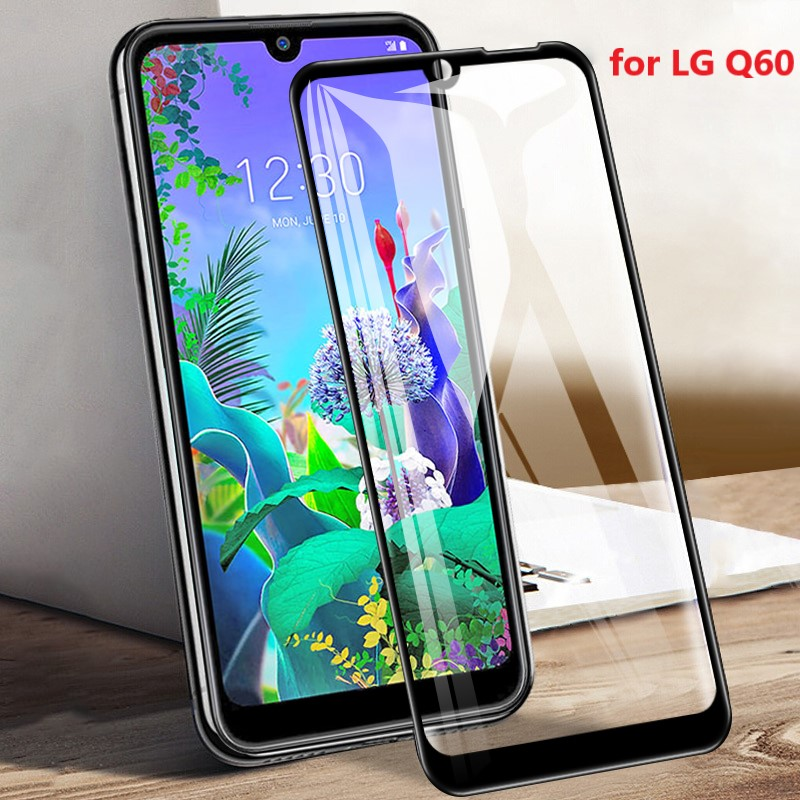 For LG Q60 Glass luxury 9H HD Tempered Toughened Glass Case For LG Q60 Smartphone Screen Protective Film Glass Protector