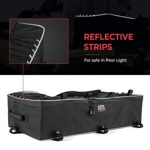 Image 4 - Czarny tylny stojak torba pakiet wsparcie Storage Pack powrót ATV dla Yamaha Big Bear 400 dla Polaris 300 dla Can Am Outlander 400