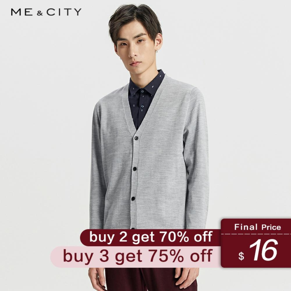 Me&City Knitted Cashmere Male Cardigan Warm High-quality Sweater Men Autumn Casual Solid Color Clothing Fashion Cardigan