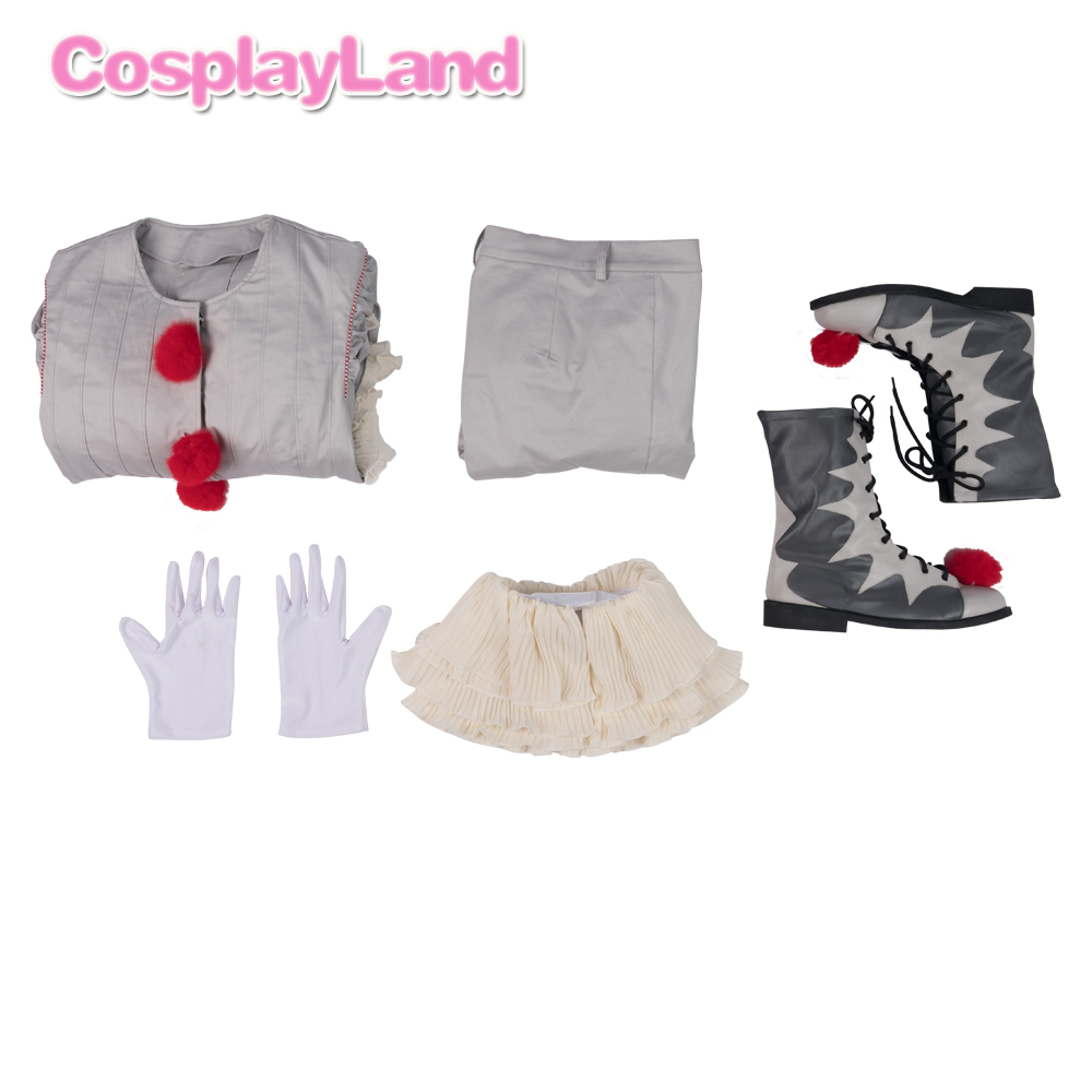 Image 5 - Stephen Kings It 2 Cosplay Costume IT Dancing Clown Pennywise  Full Suit Halloween Party Terror Movie Cosplay Outfit BootsMovie