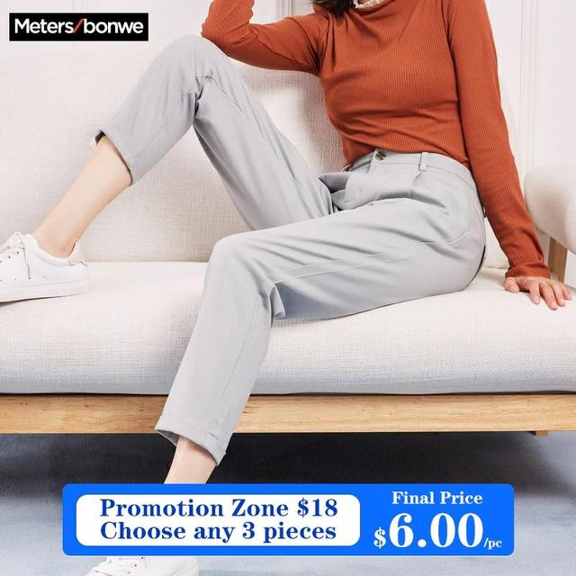 Metersbonwe Casual Harems Pants For Women Long Harems Trousers Woman High Quality Stretch Waist Office Lady Pants 753524