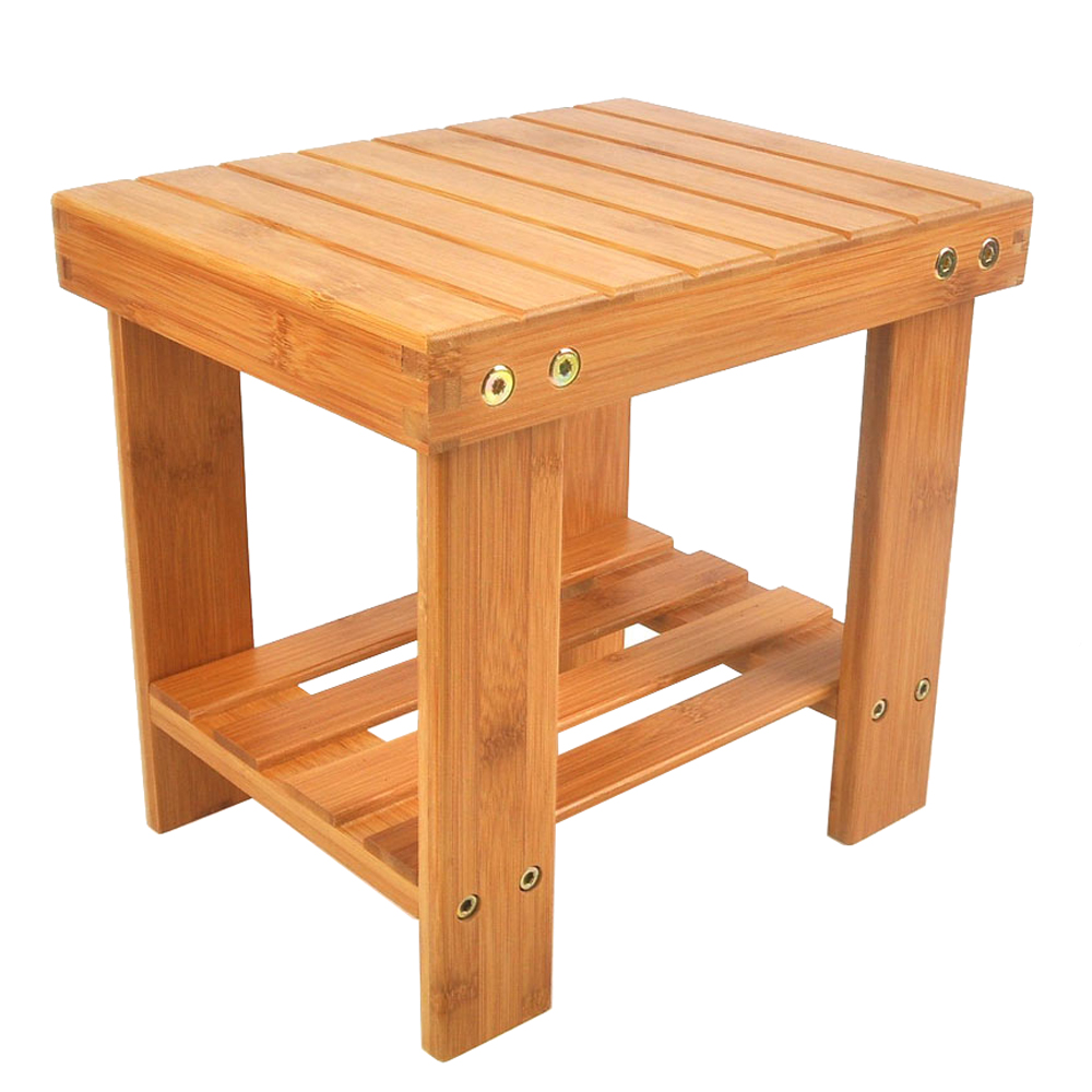 Safety Children Bench Stool Bamboo Wood Color Multi-purpose Eco-friendly