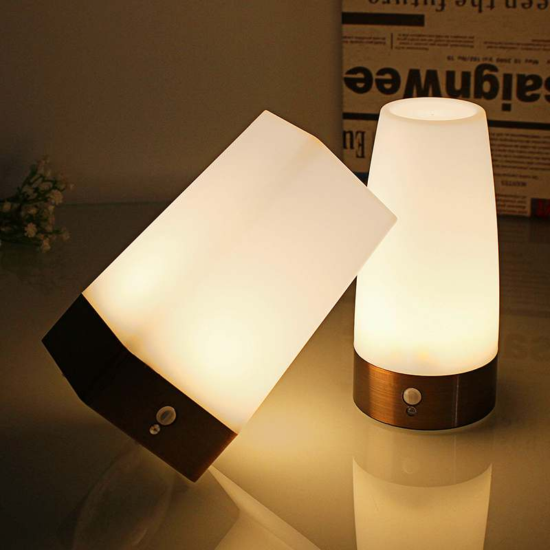 Induction LED Night Light Portable Bedside Reading Camping Lamp With Motion Sensor On/off Switch For Children Kids Birthday Gift